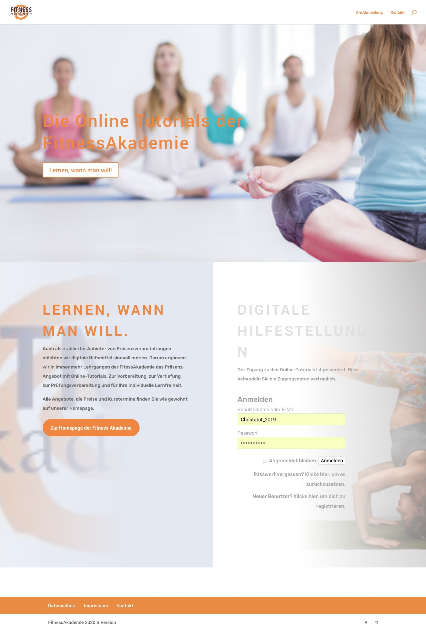 klartext.marketing für Fitness Akademie, Digitale Inhalte, 2020