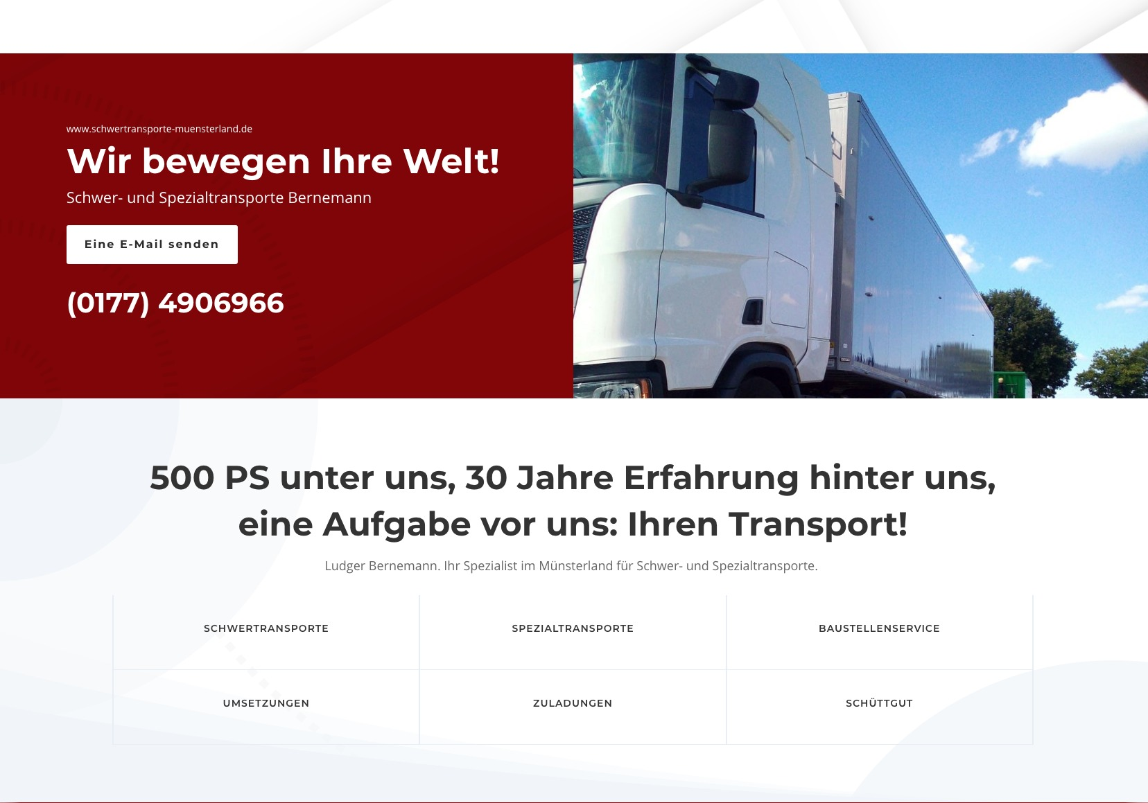 Schwertransporte Münsterland Startseite